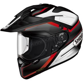 Shoei Helmets Black/White/Red Hornet X2 Seeker TC-1 Helmet - 0124-1101-03