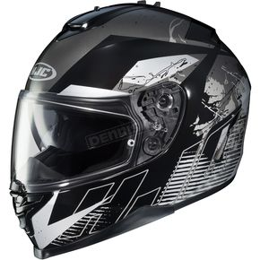HJC Black/White/Gray IS-17 Blur MC-5 Helmet - 58-5054