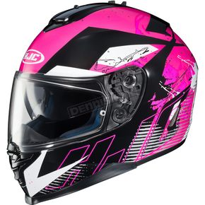 HJC Pink/Black/White IS-17 Blur MC-8 Helmet - 58-5088