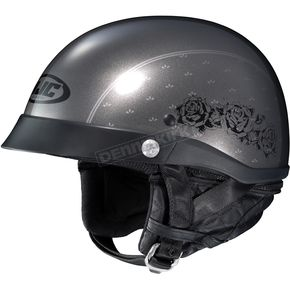 HJC Gray CL-IronRoad Black Rose MC-5 Helmet - 55-0702
