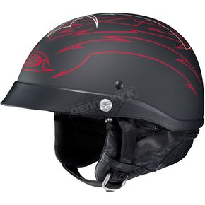 HJC Black/Red CL-IronRoad Showboat MC-1F Helmet - 55-0816