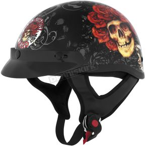 River Road Grateful Dead Skull & Roses Half Helmet - 645307