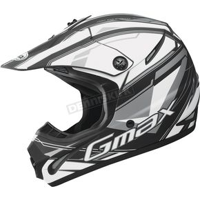 GMax Matte Black/White/Silver GM 46.2 Traxxion Helmet - 72-6651S