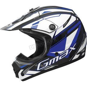 GMax Black/Blue/White GM46.2 Traxxion Helmet - 72-6653X