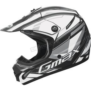 GMax Youth Matte Black/White/Silver GM46.2 Traxxion Helmet - 72-6651YS