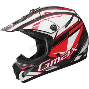 GMax Youth Black/Red/White GM46.2 Traxxion Helmet - 72-6652YL