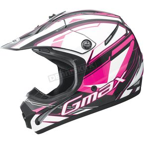 GMax Youth Black/Pink/White GM46.2 Traxxion Helmet - 72-6659YL