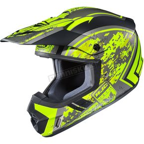 HJC Hi-Vis Yellow/Black MC-3HCS-MX 2 Squad Helmet - 55-5731