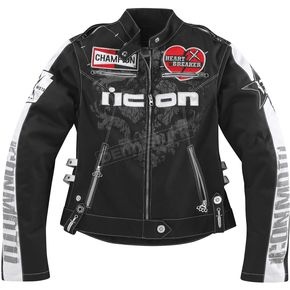 Icon Womens Black Hella Heartbreaker Jacket - 28220422