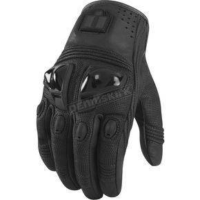 Icon Black Justice Leather Gloves - 3301-1555