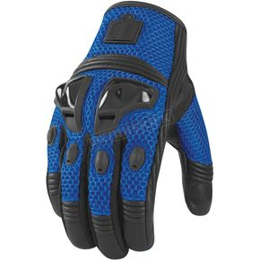 Icon Blue Justice Mesh Gloves - 3301-1579