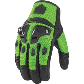 Icon Green Justice Mesh Gloves - 3301-1599