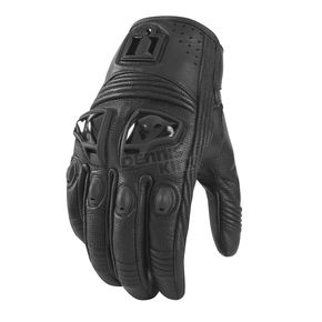 Icon Womens Stealth Justice Leather Gloves - 3302-0240