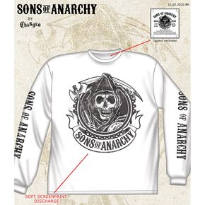 Sons of Anarchy White Redwood Original Long Sleeve Tee - 28-405-36WH-XXL