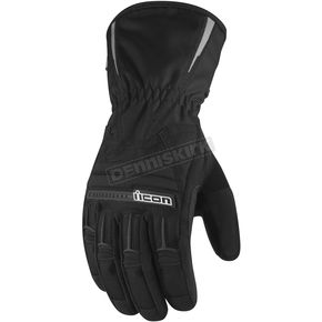 Icon Black PDX Waterproof Gloves - 3310-0336