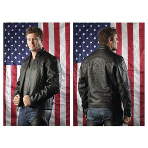 Milwaukee Motorcycle Clothing Co. Black Studded Jacket - M5310XXL