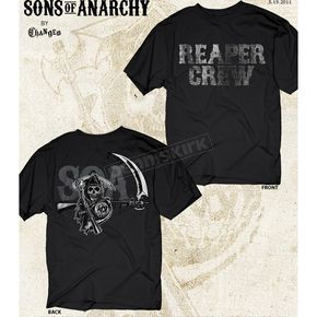 Sons of Anarchy Black SOA Reaper Crew Two Sided T-Shirt - 28-631-74-L