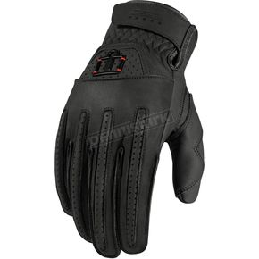 Icon Black Rimfire™ Gloves - 3301-1616