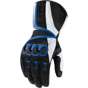 Icon Black/Blue Compound Mesh Long Gloves - 3301-1667