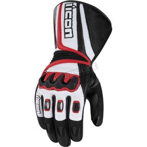 Icon Black/Red Compound Mesh Long Gloves - 3301-1672