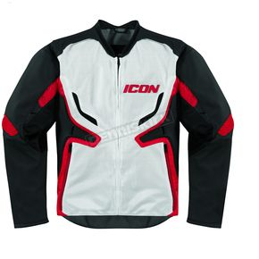 Icon Stealth/Red Compound Mesh Jacket - 2820-2279