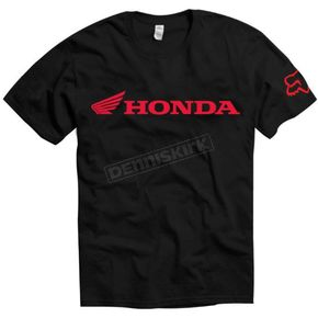 Fox Black Honda Basic T-Shirt - 01788-001-L