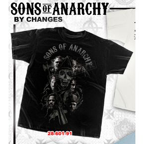Sons of Anarchy Reaper Cast T-Shirt - 28-605-91BK-XXL