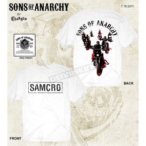 Sons of Anarchy Biker Crew T-Shirt - 28-631-93WH-S