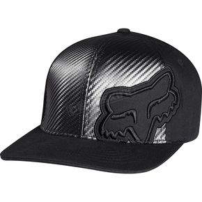 Fox Black Carbon Flex-Fit Hat - 68262-001