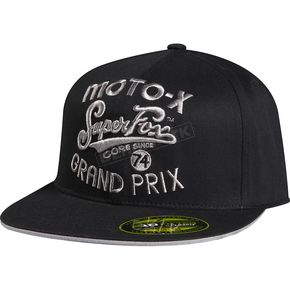 Fox Black SFMX Hat - 68265-001-L/XL