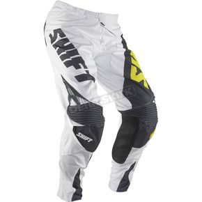 Shift White/Yellow Reed Replica Pants - 04377-214-28