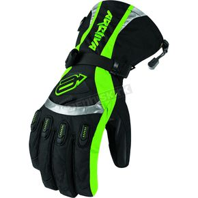 Arctiva Black/Green Comp 7 Insulated Gloves - 33400690