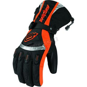 Arctiva Black/Orange Comp 7 Insulated Gloves - 33400695