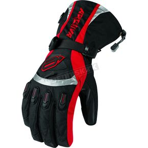 Arctiva Black/Red Comp 7 Insulated Gloves - 33400700