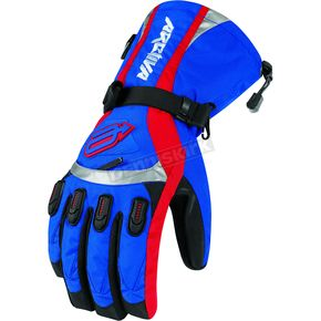 Arctiva Blue/Red Comp 7 Insulated Gloves - 3340-0705