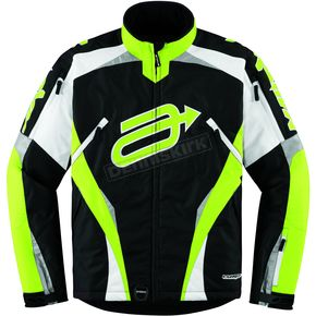 Arctiva Black/Hi-Viz Yellow Comp 7 Jacket - 3120-0970