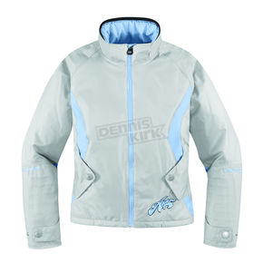 Arctiva Womens Gray/Blue Gem 4 Jacket - 3121-0283