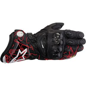 Alpinestars Black/Red GP Pro Leather Glove - 3556713-133-L