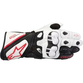Alpinestars White/Black GP Plus Leather Glove - 3556513-21-L