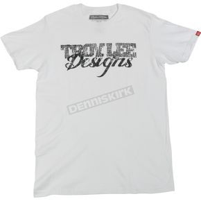 Troy Lee Designs White Hollywood T-Shirt - 1802-0110