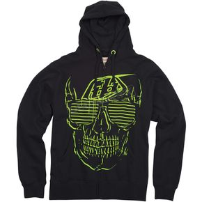 Troy Lee Designs Black Shady Zip Hoody - 3452-0210