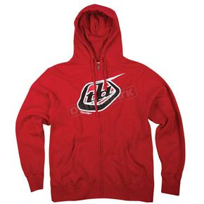 Troy Lee Designs Red Original Zip Hoody - 3600-0410