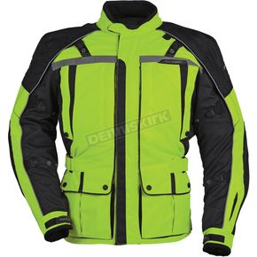 Tour Master Womens Hi-Visibility Yellow/Black Transition 3 Jacket - 8777-0313-76