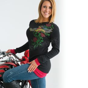Easyriders Roadware Womens Love Potion Long Sleeve Thermal T-Shirt - 3190XXL