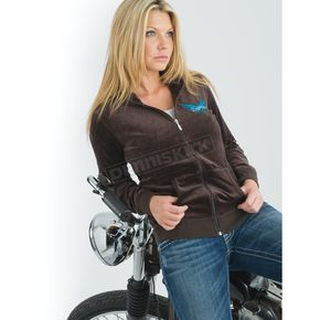 Easyriders Roadware Womens Plush Velour Hoody - 3192XXXL