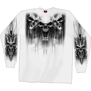 Hot Leathers Skull Dagger Long Sleeve T-Shirt - GMD2013L