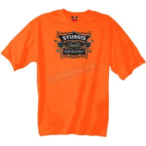 Hot Leathers Orange Official 2012 Sturgis Classic Label T-Shirt - SPM1083L