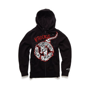 Nitro Circus Black Busted Bone Zip Fleece Hoody - 53174