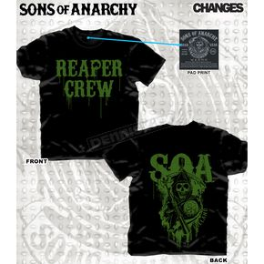 Sons of Anarchy Lucky Clover T-Shirt - 28-635-173BK-XXL