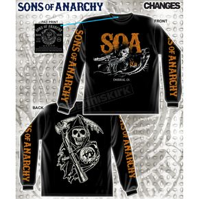 Sons of Anarchy Charging Reaper Long Sleeve T-Shirt - 28-435-110BK-XXL